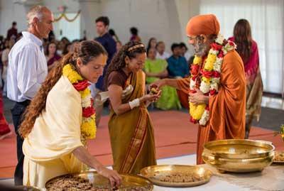 Blessing line darshan