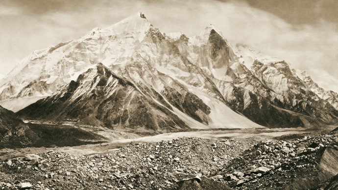 Bhagirathi Peaks in Himalaya
